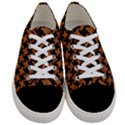 HOUNDSTOOTH2 BLACK MARBLE & RUSTED METAL Women s Low Top Canvas Sneakers View1