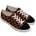 HOUNDSTOOTH2 BLACK MARBLE & RUSTED METAL Women s Low Top Canvas Sneakers View3