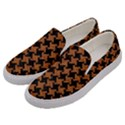 HOUNDSTOOTH2 BLACK MARBLE & RUSTED METAL Men s Canvas Slip Ons View2