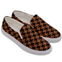 HOUNDSTOOTH2 BLACK MARBLE & RUSTED METAL Men s Canvas Slip Ons View3