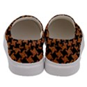 HOUNDSTOOTH2 BLACK MARBLE & RUSTED METAL Men s Canvas Slip Ons View4