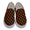 HOUNDSTOOTH2 BLACK MARBLE & RUSTED METAL Women s Canvas Slip Ons View1