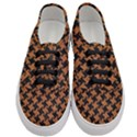 HOUNDSTOOTH2 BLACK MARBLE & RUSTED METAL Women s Classic Low Top Sneakers View1
