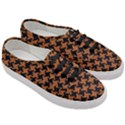 HOUNDSTOOTH2 BLACK MARBLE & RUSTED METAL Women s Classic Low Top Sneakers View3