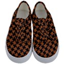 HOUNDSTOOTH2 BLACK MARBLE & RUSTED METAL Kids  Classic Low Top Sneakers View1