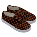 HOUNDSTOOTH2 BLACK MARBLE & RUSTED METAL Kids  Classic Low Top Sneakers View3
