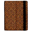 HEXAGON1 BLACK MARBLE & RUSTED METAL Apple iPad Mini Flip Case View2