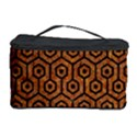 HEXAGON1 BLACK MARBLE & RUSTED METAL Cosmetic Storage Case View1