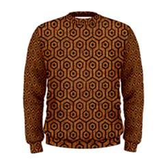Hexagon1 Black Marble & Rusted Metal Men s Sweatshirt