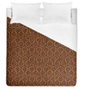 HEXAGON1 BLACK MARBLE & RUSTED METAL Duvet Cover (Queen Size) View1