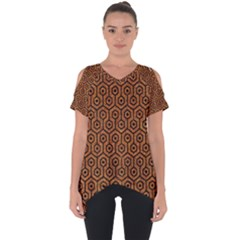 Hexagon1 Black Marble & Rusted Metal Cut Out Side Drop Tee
