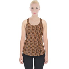 Hexagon1 Black Marble & Rusted Metal Piece Up Tank Top