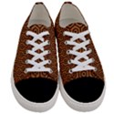 HEXAGON1 BLACK MARBLE & RUSTED METAL Women s Low Top Canvas Sneakers View1