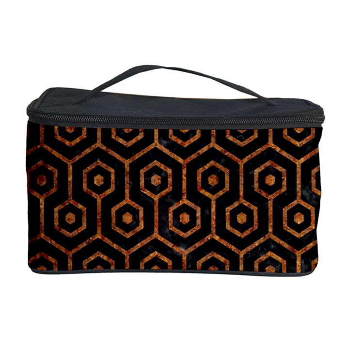 HEXAGON1 BLACK MARBLE & RUSTED METAL (R) Cosmetic Storage Case