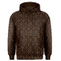 HEXAGON1 BLACK MARBLE & RUSTED METAL (R) Men s Pullover Hoodie View1