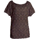 HEXAGON1 BLACK MARBLE & RUSTED METAL (R) Women s Oversized Tee View1