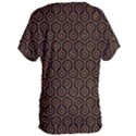 HEXAGON1 BLACK MARBLE & RUSTED METAL (R) Women s Oversized Tee View2