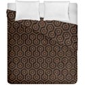 HEXAGON1 BLACK MARBLE & RUSTED METAL (R) Duvet Cover Double Side (California King Size) View1