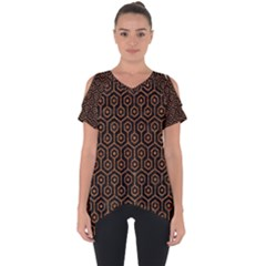 Hexagon1 Black Marble & Rusted Metal (r) Cut Out Side Drop Tee