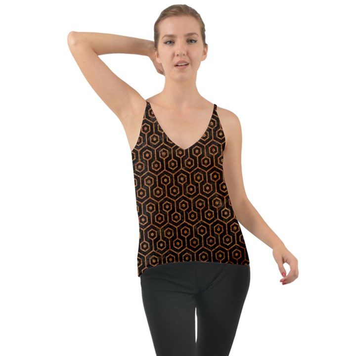 HEXAGON1 BLACK MARBLE & RUSTED METAL (R) Cami