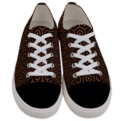 Hexagon1 Black Marble & Rusted Metal (r) Women s Low Top Canvas Sneakers