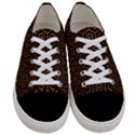HEXAGON1 BLACK MARBLE & RUSTED METAL (R) Women s Low Top Canvas Sneakers View1