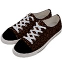 HEXAGON1 BLACK MARBLE & RUSTED METAL (R) Women s Low Top Canvas Sneakers View2