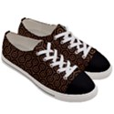 HEXAGON1 BLACK MARBLE & RUSTED METAL (R) Women s Low Top Canvas Sneakers View3
