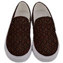 HEXAGON1 BLACK MARBLE & RUSTED METAL (R) Men s Canvas Slip Ons View1