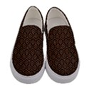 HEXAGON1 BLACK MARBLE & RUSTED METAL (R) Women s Canvas Slip Ons View1