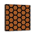HEXAGON2 BLACK MARBLE & RUSTED METAL Mini Canvas 6  x 6  View1