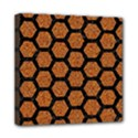 HEXAGON2 BLACK MARBLE & RUSTED METAL Mini Canvas 8  x 8  View1