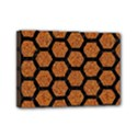 HEXAGON2 BLACK MARBLE & RUSTED METAL Mini Canvas 7  x 5  View1