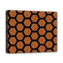 HEXAGON2 BLACK MARBLE & RUSTED METAL Canvas 10  x 8  View1
