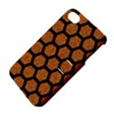 HEXAGON2 BLACK MARBLE & RUSTED METAL Apple iPhone 4/4S Hardshell Case with Stand View4