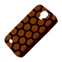 HEXAGON2 BLACK MARBLE & RUSTED METAL Samsung Galaxy S4 Classic Hardshell Case (PC+Silicone) View4