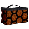 HEXAGON2 BLACK MARBLE & RUSTED METAL Cosmetic Storage Case View2