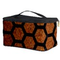 HEXAGON2 BLACK MARBLE & RUSTED METAL Cosmetic Storage Case View3