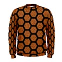 HEXAGON2 BLACK MARBLE & RUSTED METAL Men s Sweatshirt View1