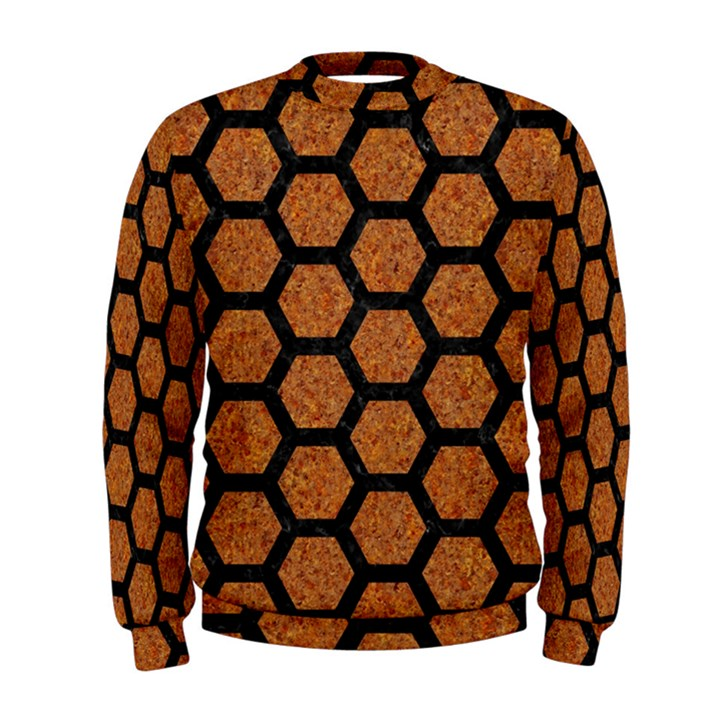 HEXAGON2 BLACK MARBLE & RUSTED METAL Men s Sweatshirt