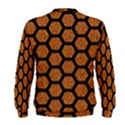HEXAGON2 BLACK MARBLE & RUSTED METAL Men s Sweatshirt View2