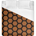 HEXAGON2 BLACK MARBLE & RUSTED METAL Duvet Cover (King Size) View1