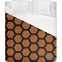HEXAGON2 BLACK MARBLE & RUSTED METAL Duvet Cover (California King Size) View1