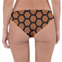 HEXAGON2 BLACK MARBLE & RUSTED METAL Reversible Hipster Bikini Bottoms View4
