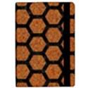 HEXAGON2 BLACK MARBLE & RUSTED METAL Apple iPad Pro 9.7   Flip Case View2