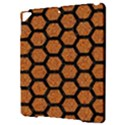 HEXAGON2 BLACK MARBLE & RUSTED METAL Apple iPad Pro 9.7   Hardshell Case View3