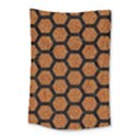 HEXAGON2 BLACK MARBLE & RUSTED METAL Small Tapestry View1