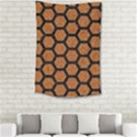 HEXAGON2 BLACK MARBLE & RUSTED METAL Small Tapestry View2