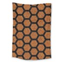 HEXAGON2 BLACK MARBLE & RUSTED METAL Large Tapestry View1
