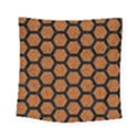 HEXAGON2 BLACK MARBLE & RUSTED METAL Square Tapestry (Small) View1